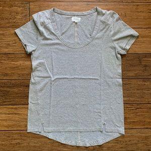 Grey and White Stripe Tee Shirt
